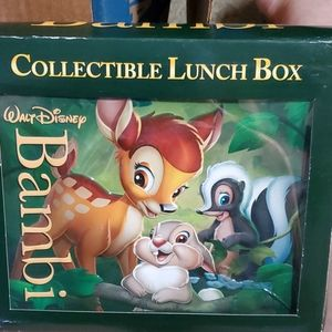 NIB Bambi collectible lunch box.